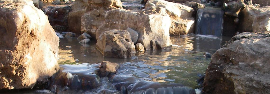 Ruisseau et cascade sans bassin (pondless)